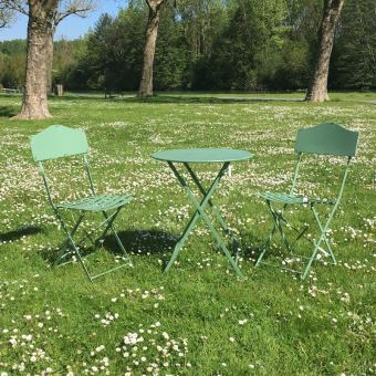 Table 2 Chaises De Jardin En Fer Pliable Salon De Jardin Bistrot