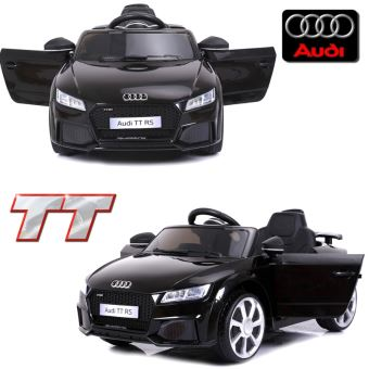 petite voiture lectrique enfant 12 volts audi tt s pack luxe noir t l commande parentale. Black Bedroom Furniture Sets. Home Design Ideas