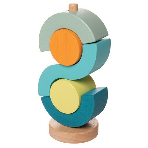 Manhattan Toy tour de bloc ronde junior 20,32 cm en bois 5 parties