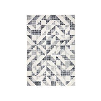 Tapis 100 Polypropylène Motif Losange Pointillé 200x290cm Noir