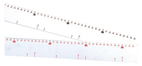 Mallard ferriere - regle graduee plastique de 64 c