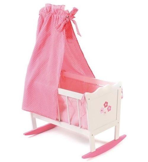 Bayer chic 2000 - lit flèche en bois à bascule pour poupée