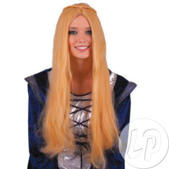Perruque cheveux long blond