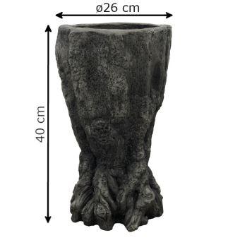 Pot Cache Pot Jardinière Vasque en Terre Cuite 40 cm x ø26 ...