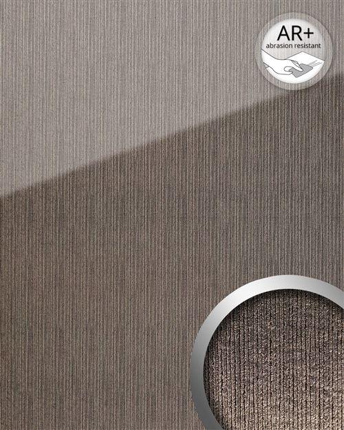 Panneau mural aspect verre WallFace 20219 ALIGNED Silver AR+ lisse Revêtement mural aspect verre très brillant auto-adhésif résistant à l'abrasion gris argent 2,6 m2