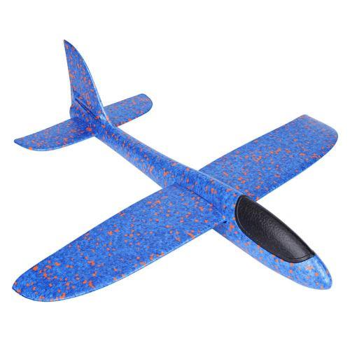 Planeur Jouet 49Cm Mini Mousse Jet Avion Jouet Avion Volant Enfant Bleu Cadeau Noël pour enfant