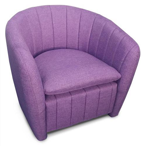 Fauteuil Noumea Tissu Violet