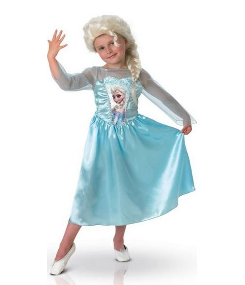 Reine des neiges - déguisement elsa + perruque disney taille 5/6 ans