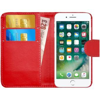 coque rabat iphone 7 rouge