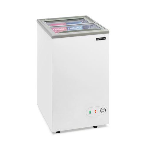 Klarstein Pro Eispalast Congélateur coffre vitré 60 litres -7 niveaux de puissance - Blanc