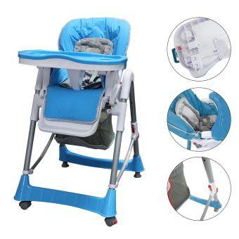 Chaise Pliante pour Bébé, Chaise Haute pour Bébé, Bleu