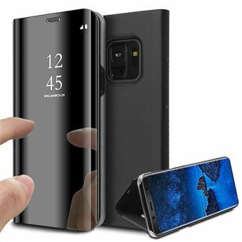 pour Samsung Galaxy S8 Clear View Etui à Rabat Cover Flip Case Housse Translucide Miroir Antichoc Noir