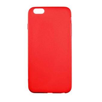 Coque silicone Apple iPhone 6 / 6S - Rouge Translucide