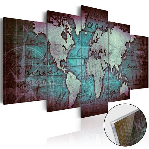 Tableau sur verre acrylique - Acrylic prints – Bronze map II -