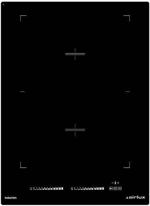 Airlux ATI42BBK - Table de cuisson à induction - 2 plaques de cuisson - Niche - largeur : 36 cm - profondeur : 49 cm - noir