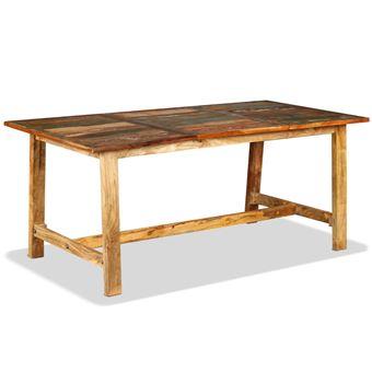 cm Table 180 Massif 90 Industriel de Manger en Bois à x x 76 Récupération PkZiXu