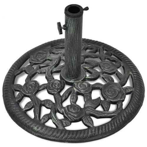 Pied socle base de parasol en fonte 35/38/48 mm 12 kg 48 cm noir