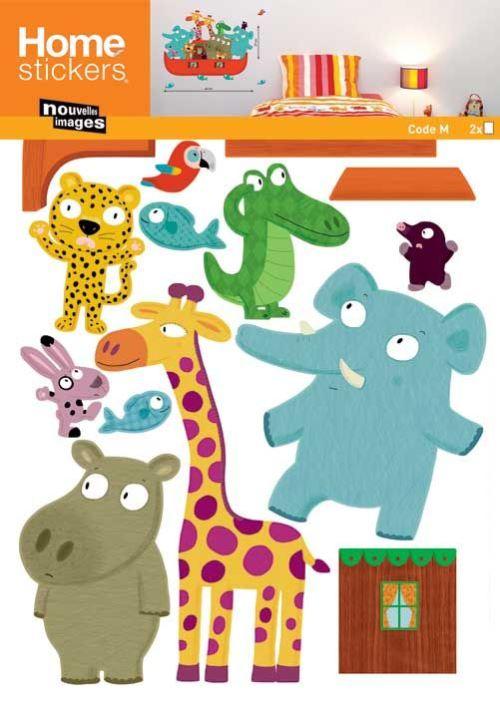 Nouvelles Images - Sticker mural Arche de Noé animaux