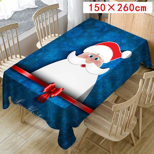 Nappe de Noël Imprimer Rectangle Table Cover Holiday Party Home Decor_Kiliaadk405