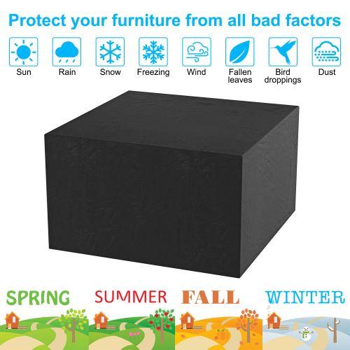 Housse de Protection Imperméable Rectangulaire Anti-poussière Anti-UV pour Couverture de Meubles