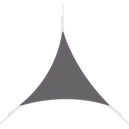 Easy Sail - Voile d'ombrage triangle 3 x 3 x 3m ardoise