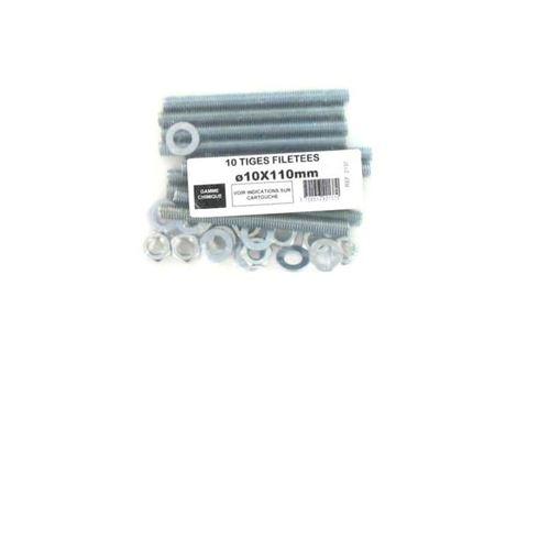 Pack de 10 Tiges Filetées M10 BATIFIX diamètre 10 x 110mm