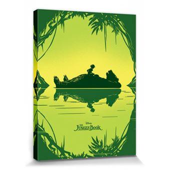 Le Livre De La Jungle Poster Reproduction Sur Toile Tendue Sur Chassis Baloo Mowgli 80x60 Cm