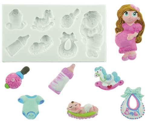 Plaque silicone baby shower