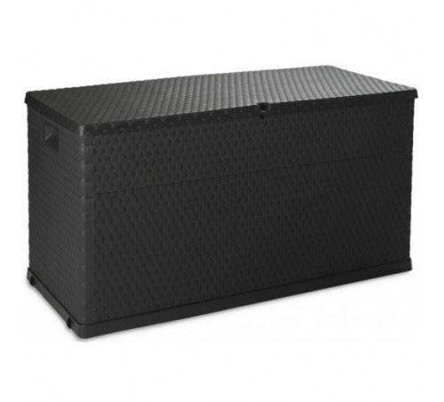 Coffre mulitbox 420 litres effet rattan coloris gris