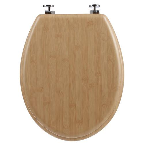 Atmosphera - Abattant WC effet bambou Natura - MDF - Marron - Natura