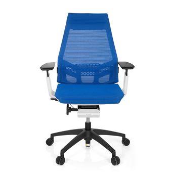 Chaise De Bureau GENIDIA SMART WHITE Tissu Maille Bleu Hjh OFFICE