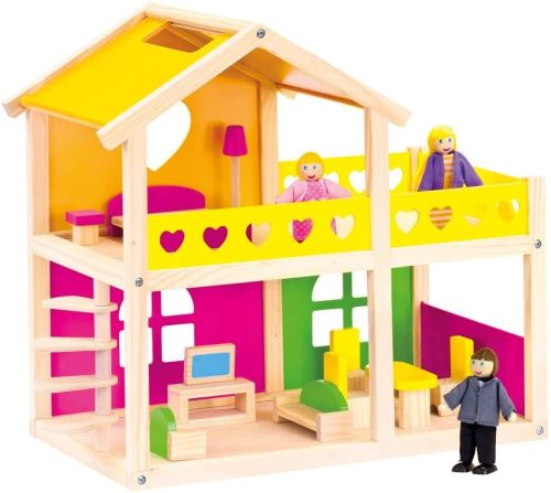 Bino 83553 Maison de poupée avec Accessoires