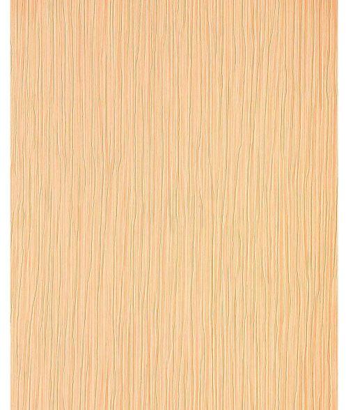 Papier peint gaufré en relief rayé EDEM 715-26 aspect froissé caramel brun clair ombrage d'or rosé