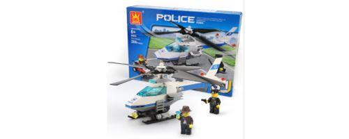 Building Block jouets avion de police Wange Couleur 51013