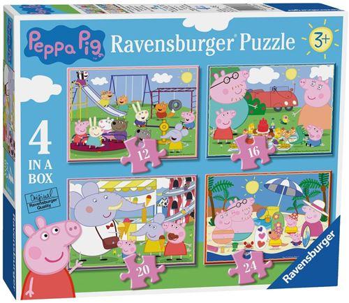 Ravensburger Peppa Pig 4 dans une boîte casse-tête (12, 16, 20, 24pc)