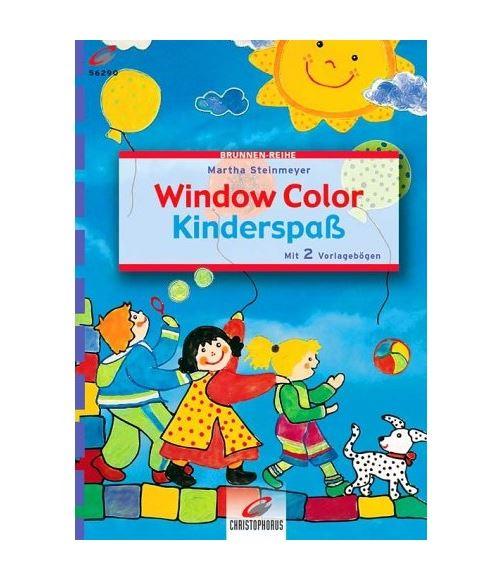 Livre motif window color les enfants et le chien - modele peinture fenetre (langue allemand)