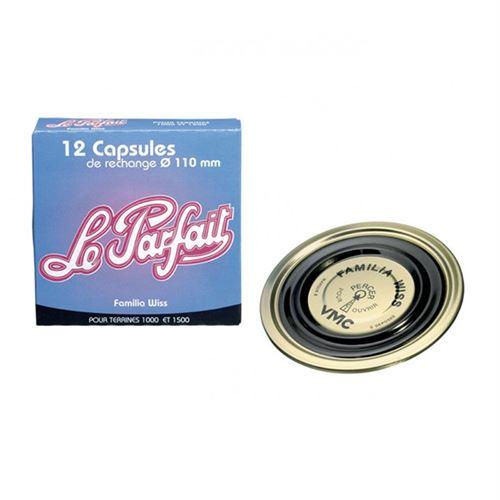 LE PARFAIT - Lot de 12 capsules 'familia wiss' d. 11 cm