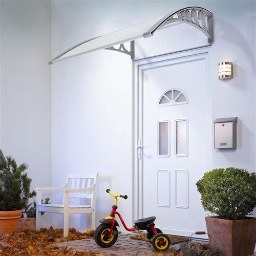 Marquise Auvent de porte d'accueil solaire 60x100cm