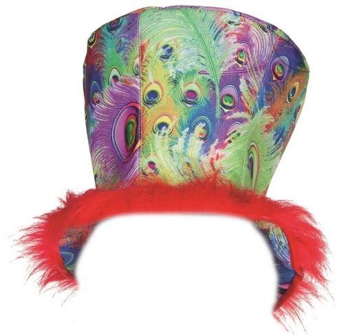 Rubie's chapeau haut-de-forme paon unisexe