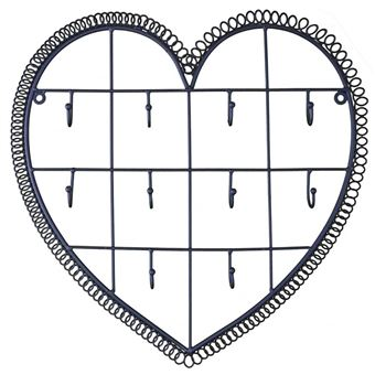 Patiné En Coeur Applique Du Temps Murale Noir Clés 10 Clefs Fer Motif Porte 3x34x35cm Crochets L'héritier 1FJ3cTlK