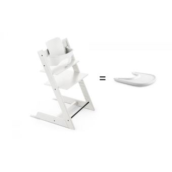 Stokke Pack chaise TRIPP TRAPP Blanc avec Baby Set
