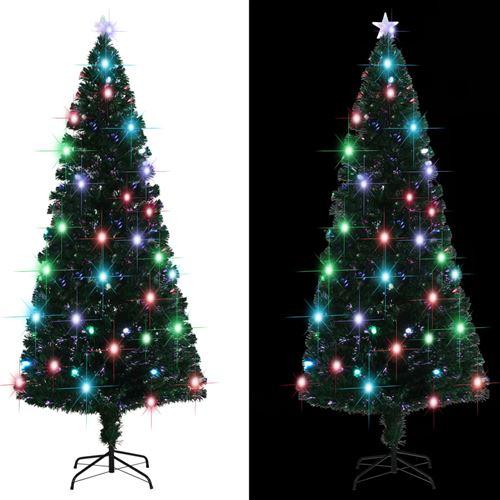 Arbre de Noël artificiel et support/LED 210 cm 280 branches