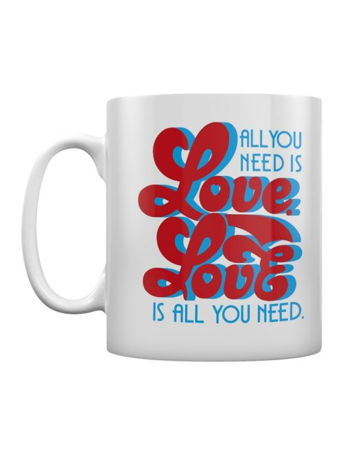 The Beatles Tasse Lyrics by Lennon & McCartney - All You Need Is Love blanc