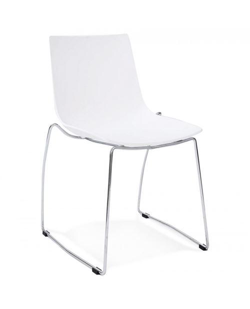 Chaise design TIKADA WHITE 54x58x83 cm