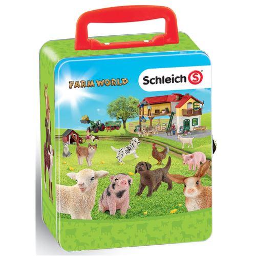 Theo Klein 3113 Coffret de rangement pour 18 bébés animaux SCHLEICH