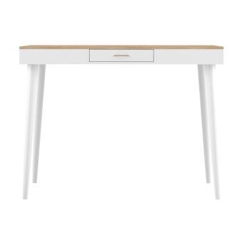 Table Haute Scandinave Blanc Et Bois Stripe Achat Prix Fnac