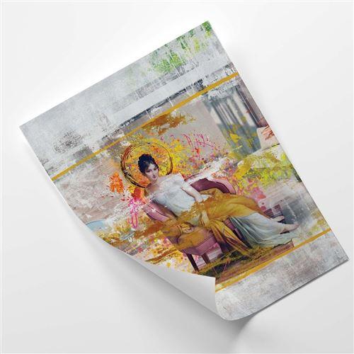 Feeby Affiche moderne Poster décoration murale Image, Dame dans une chaise 40x60 cm