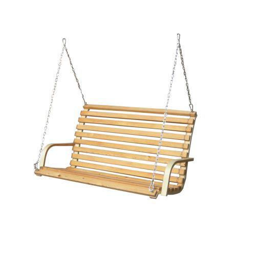 banc pour Balancelle de porche en bois de mélèze pour 2 personnes incl chaînes et crochets rob