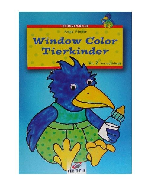Livre motif window color oiseau bleu - modele peinture fenetre (langue allemand)