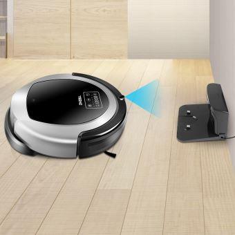 TEENO Aspirateur robot laveur WiFi Multifonction 3 en 1